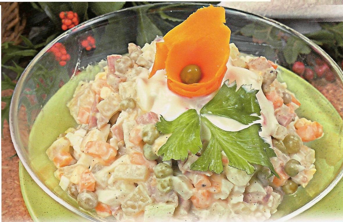 рецепт салата оливье классического с курицей