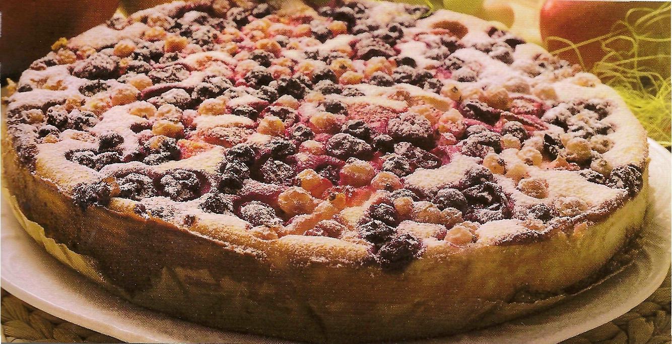 пирог с творогом и ягодами в духовке рецепт с фото