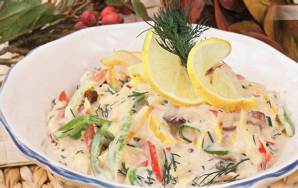 салат с грибами жареными рецепт с фото