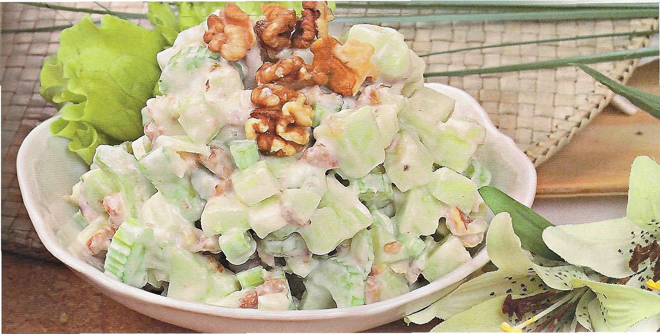 рецепт салата из фруктов с йогуртом